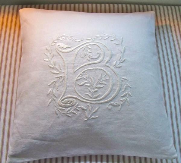 Whitework embroidered wedding cushions addison