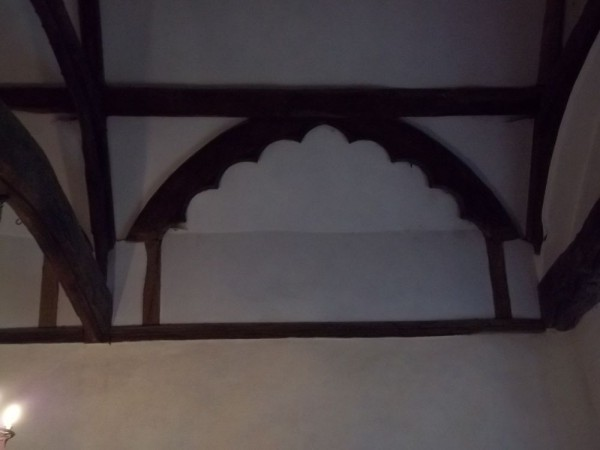 Ipsden Church: Scalloped roof timbers