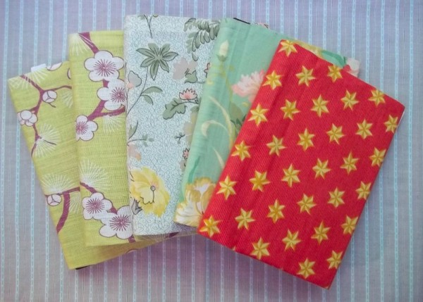 A5 notebboks with cotton slip covers