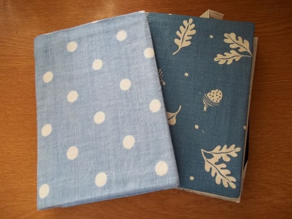A5 spiral bound notebooks for recipes in linen slip covers