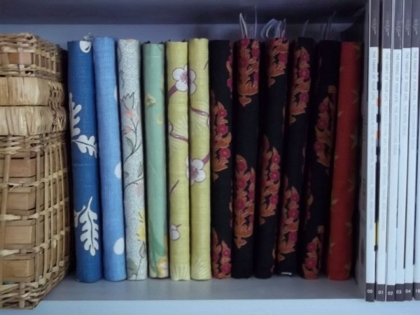 Notebooks covered in various cottons and linens