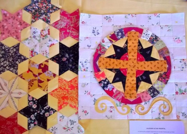 Patchwork altar frontal: component parts brought together