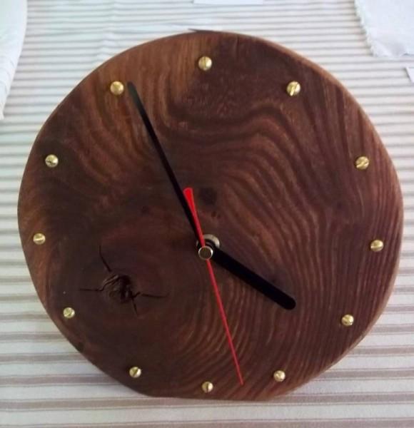 Jill Yates: clock made in limewood (I think)