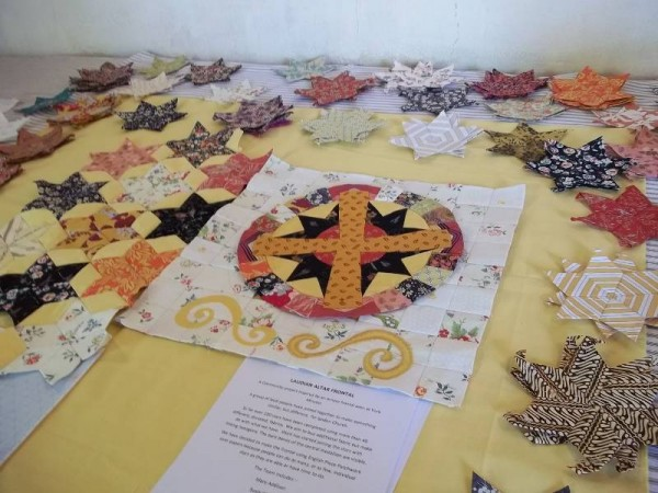 Ipsden Patchwork Group: Altar Frontal: work in progress