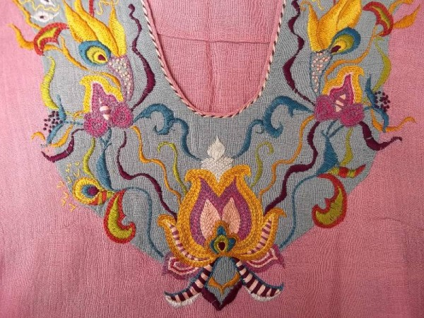 Cheesecloth top with Moorish style hand embroidery (Mary Addison)