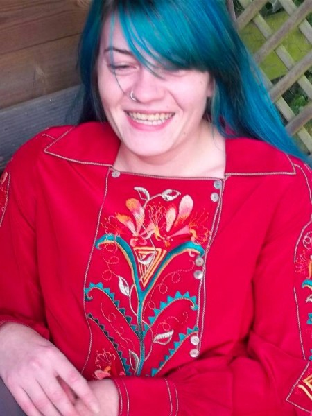 Lily and honeysuckle hand embroidered blouse (Mary Addison)