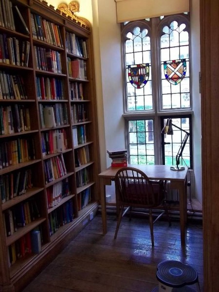 Balliol College Library: The Old Library with the old chair