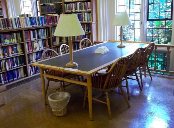 Balliol College Library: the Reading Room with the old chairs