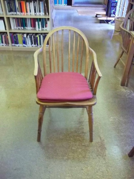 Balliol College Library: old library chair with cushions