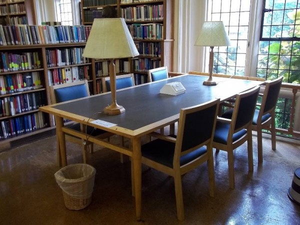 Balliol College Library: The Reading Room with the new chairs