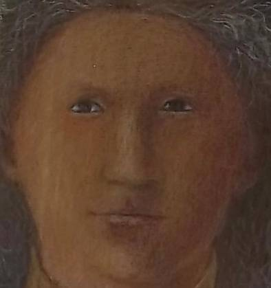 Angel: detail of face (from a copy by Clare Belfield of an angel in the Senigallia Madonna in the Galleria Nazionale delle Marche, Urbino.)