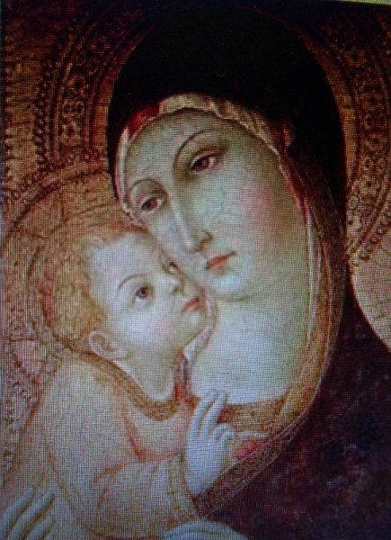 Madonna and Child by Sano di Peitro, a Siennese painter