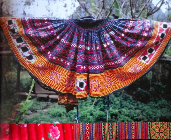 Vietnamese skirt of the Flowered Hmong (photographed from Catherine Legrand's book Textiles: A World Tour T & H 2008)