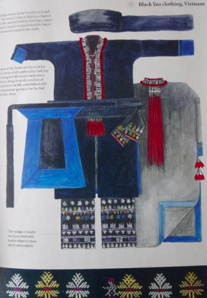 Black Yao clothing, Vietnam (From Catherine Legrand's book Textiles: A World Tour (T & H 2008)