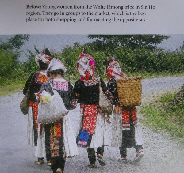 Vietnamese White Hmong Skirt girls (photograph from Catherine Legrand's Textiles: A World Tour T & H  2008)