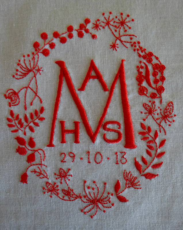 Monogram For A New Baby Addison Embroidery At The Vicarage
