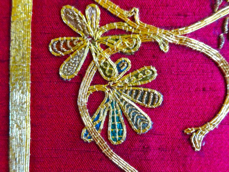 Goldwork Embroidered Bible In Balliol Library - Addison Embroidery At The Vicarage