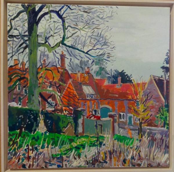 Martin Beek: Near Ipsden House (oil on canvas)