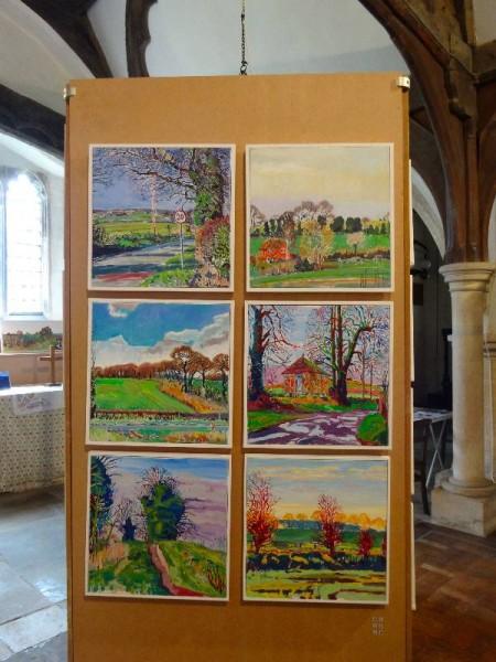 Martin Beek: lanes of Ipsden (all oil on canvas)