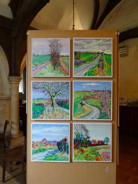Martin Beek: More lanes of Ipsden (oil on canvas)