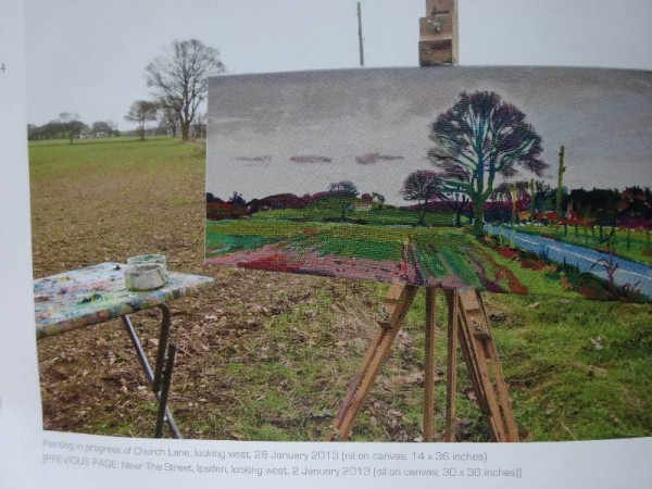 Martin Beek: a page from his book sowing work in progress en plein air