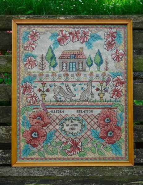 Needlepoint sampler (Glorafilia)