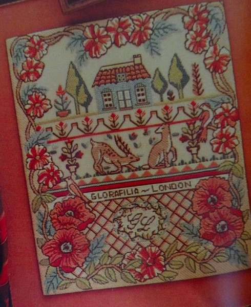 Sampler as seen in The Glorafilia Needlepoint Collection (pub. David & Charles)