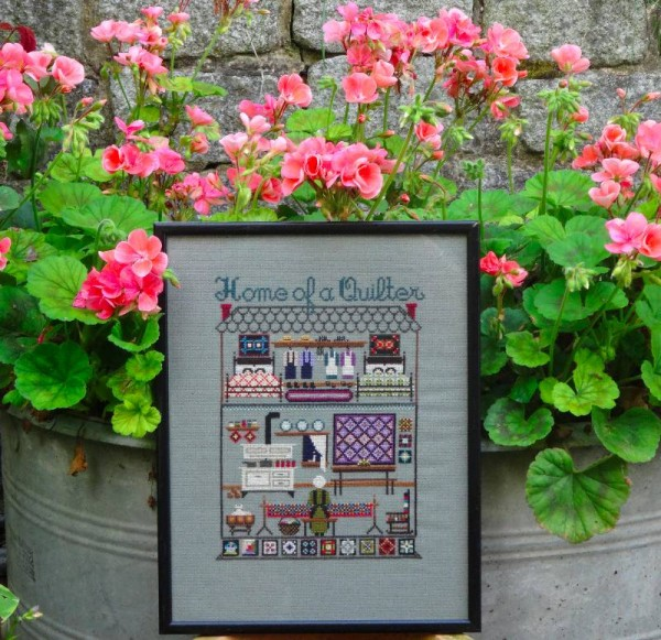 Home of a Quilter: sampler in counted cross stitch