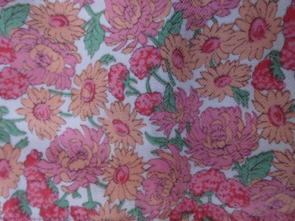 Vintage Liberty  twill fabric in wool/cotton mix