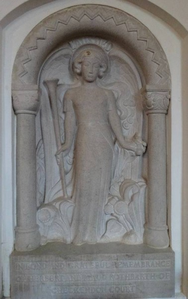 Rothbarth memorial by Eric Kennington Checkendon Church, Oxon