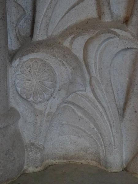 Rothbarth Memorial by Eric Kennington in Checkendon Church: detail