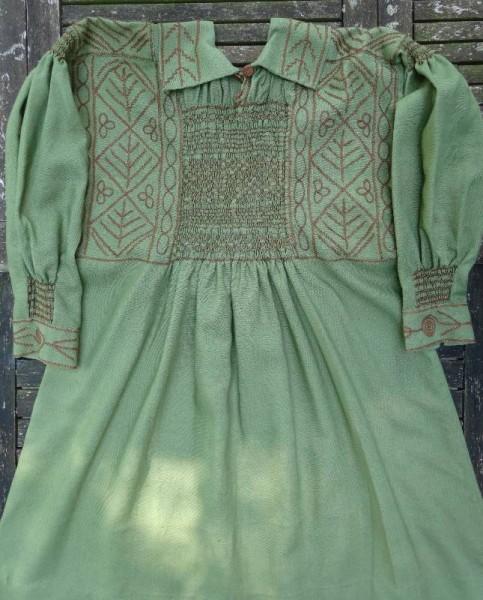 Woodman's smock made for Winwood Reade by Mrs Andrews of Dorset