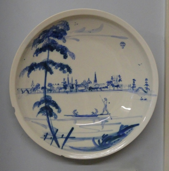 Isis Ceramics bowl showing Oxford as seen from the River Isis (sadly now chipped)