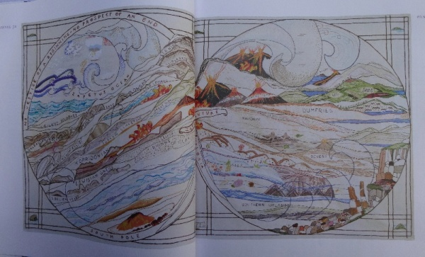 The Great Tapestry of Scotland by Alistair Moffat (pub. Birlinn): panels 3a & 3b showing the formation of Scotland