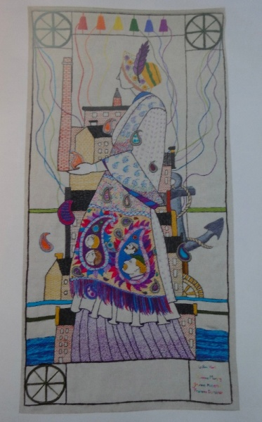 The Great Tapestry of Scotland: Alistair Moffat (Birlinn, 2013) Plate 107  Mill Working