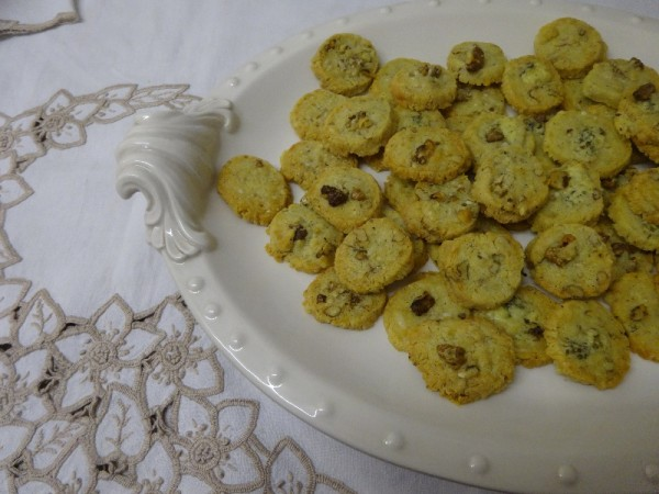 Stilton and walnut nibbles - from Miranda Gore Browne's book 'Biscuit' (Ebury, 2012)