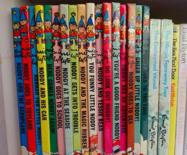 A row of Noddy books