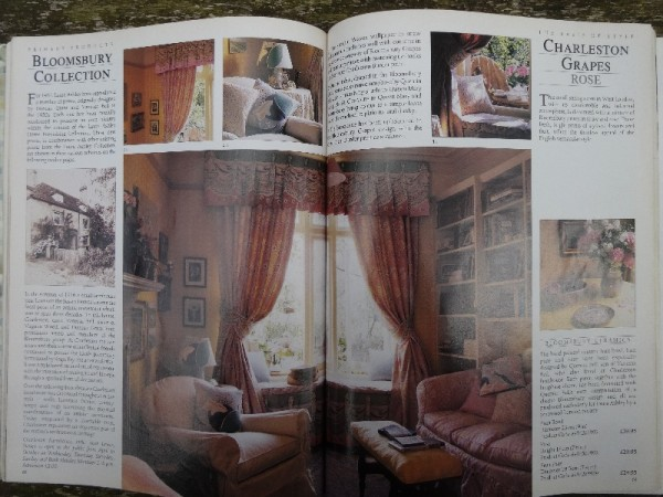 Pages from 1987 Laura Ashley Catalogue showing Bloomsbury Collection