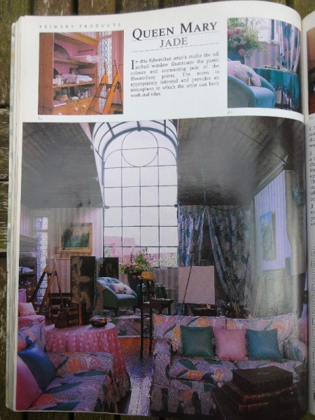 Laura Ashley Catalogue of 1987 featuring Bloombury fabrics. (Picture shows Studio on the Talgarth Road, London)