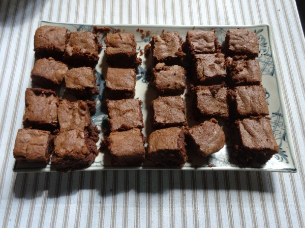 Chestnut Brownies (Dan Lepard's recipe but using Amaretto liqueur instead of rum)
