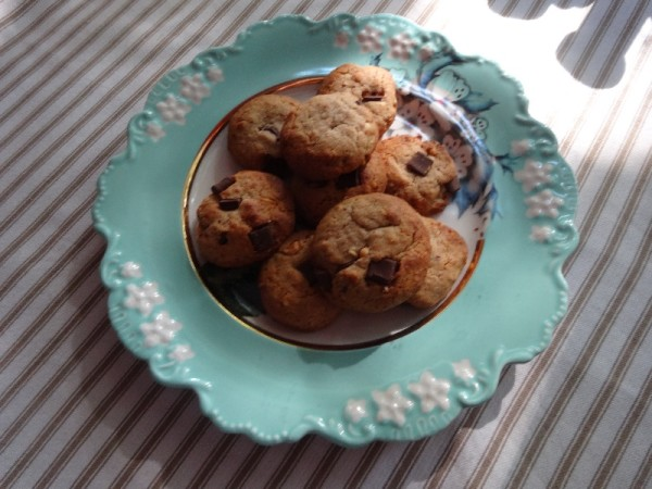 Peanut butter and chocolate chip biscuits