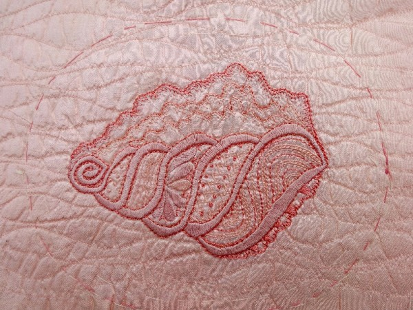 Seashell (hand embroidered by Mary Addison)