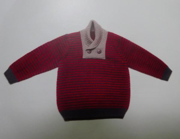 Debbie Bliss striped jumper (Baby Cashmerino Bk 4)