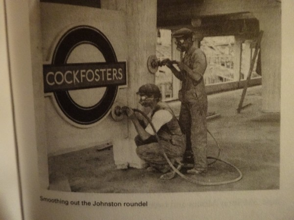 Edward Johnston's underground sign and Underground font (from Simon garfield's Just My Type ; Profile Books, 2010)