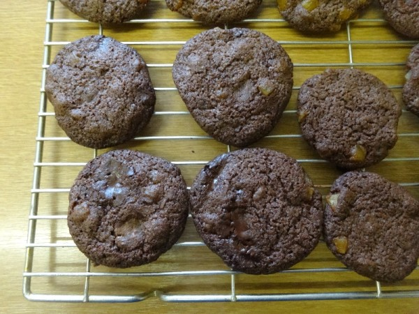 Dark chocolate and citrus cookies