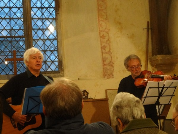 Songs of Waterlooinn Ipsden Church : L to R David Wells-Cole and Peter Brown