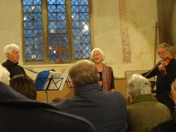 Songs of Waterloo, L to R : David Wells-Cole, Susan Spindler and Peter Brown