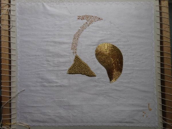Goldwork sampler (hand embroidered by Mary Addison)
