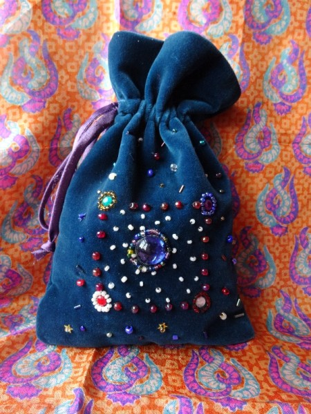 Little jewelled bag (hand beaded by Mary Addison)