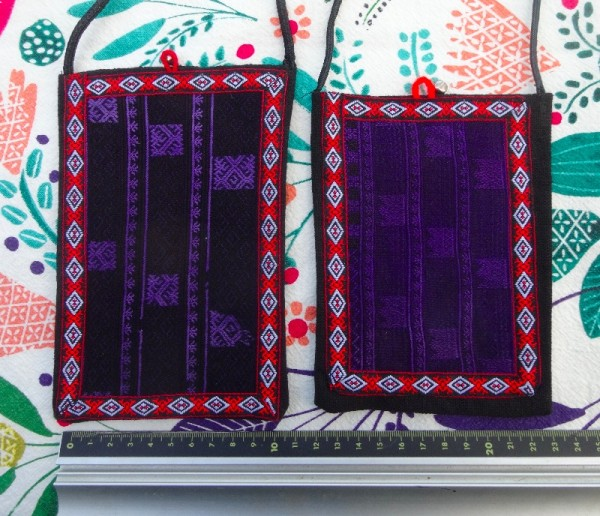 Red Dao embroidered little bags